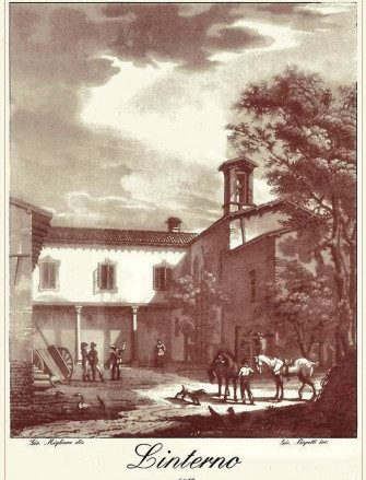 """""""Solitudine di Linterno"""" 1819, Incisione di Giovanni Migliara"""