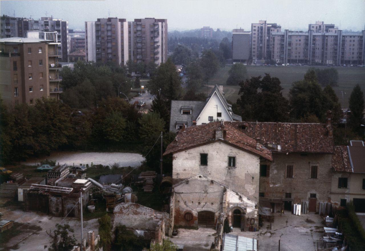 Cascina Roma vista aerea, Archivio storico fotografico della città di San Donato Milanese